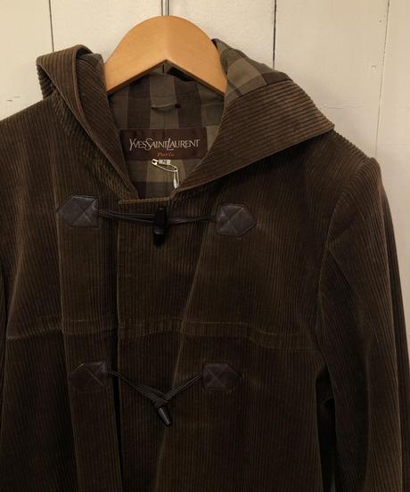 YSL  / Corduroy duffle coat. (P)
