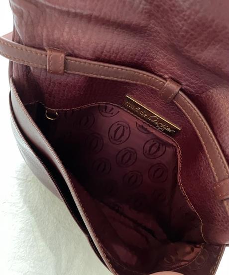 Cartier/vintage bi-color shoulder bag.(U)