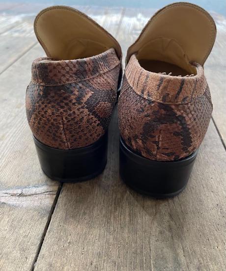 Dolce&Gabbana/vintage leather python motif loafer.