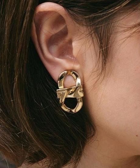 SalvatoreFerragamo/ double gantini earring.