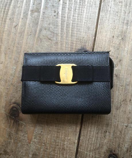 Salvatore Ferragamo / vintage vara mini pouch.