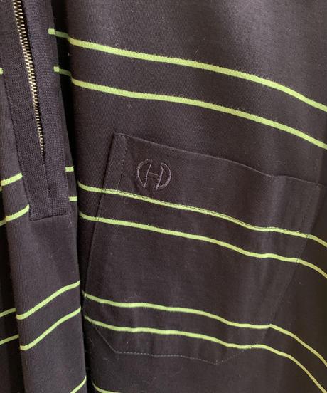 CELINE / vintage border pattern over sized polo shirt,