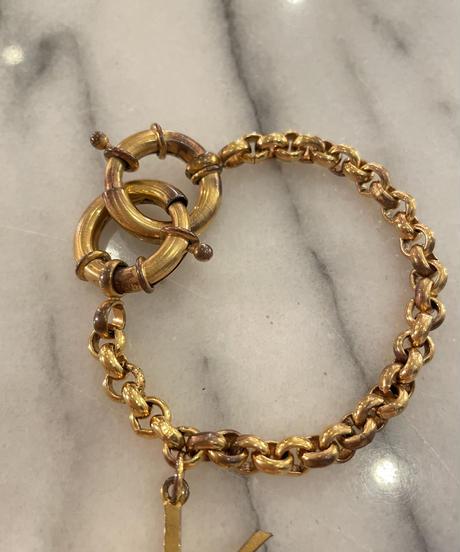 YvesSaintLaurent/ vintage logo chain bracelet.