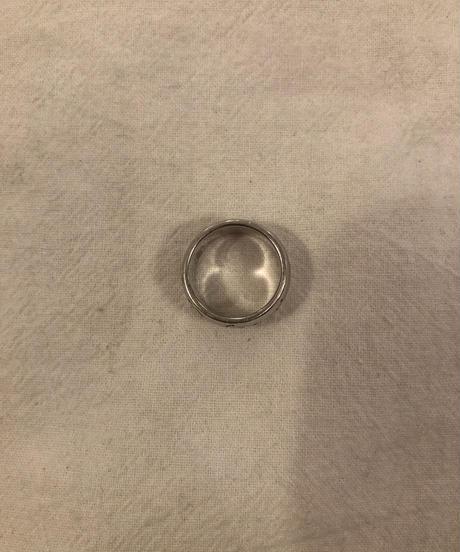 BVLGARI/ vintage  logo silver ring.(11号)