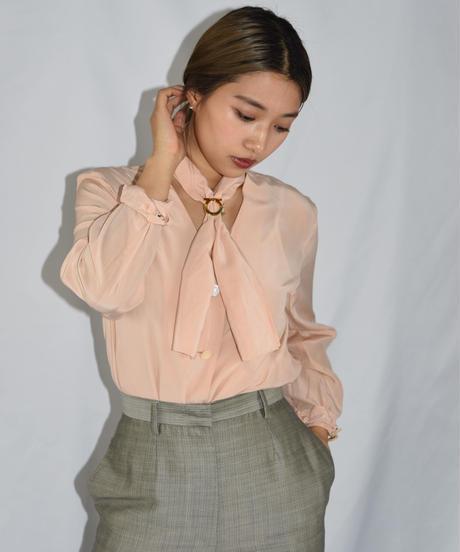 MAX MARA / vintage silk 100% tie blouse.
