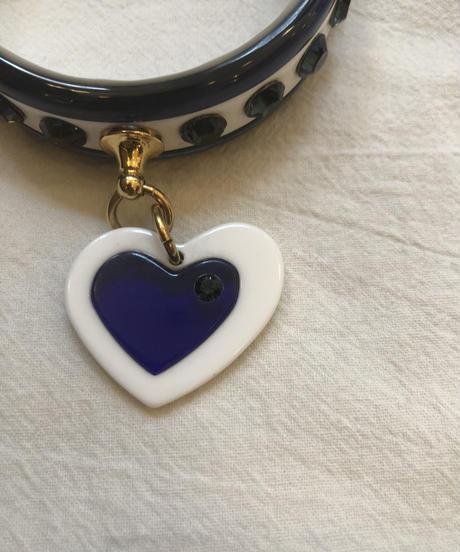 miu miu/vintage heart motif bracelet.