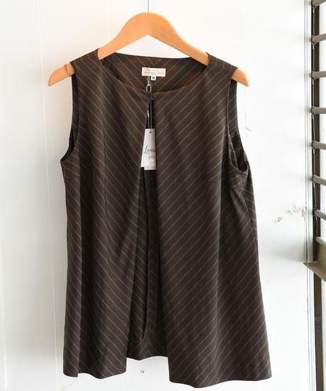 BALENCIAGA/front open stripe vest.