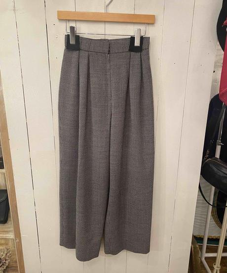Christian Dior / vintage check  wide pants.