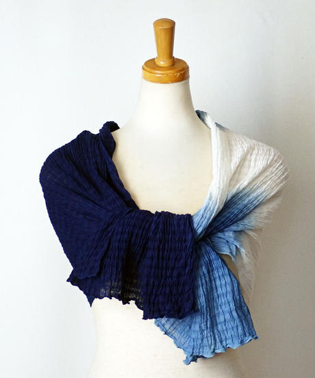 天然藍染めスカーフ2