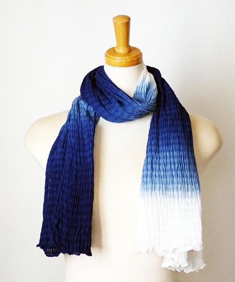天然藍染めスカーフ1