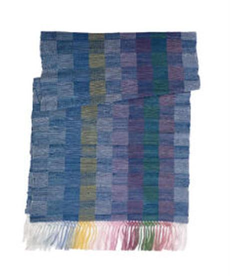 市松織り絹ショール
