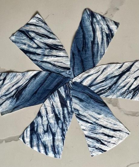 天然藍染 チューリップ帽(リバーシブル)
