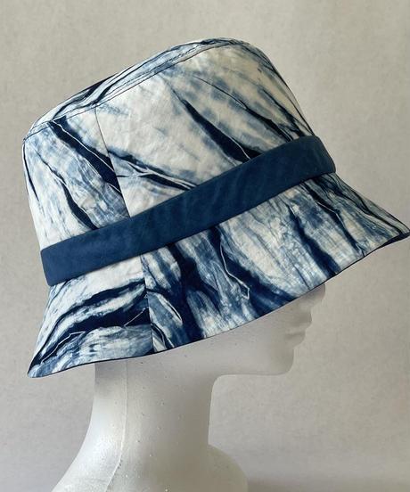 天然藍染 麻帽子