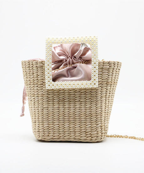 Pearl basket bag