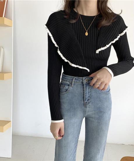Frill design knit