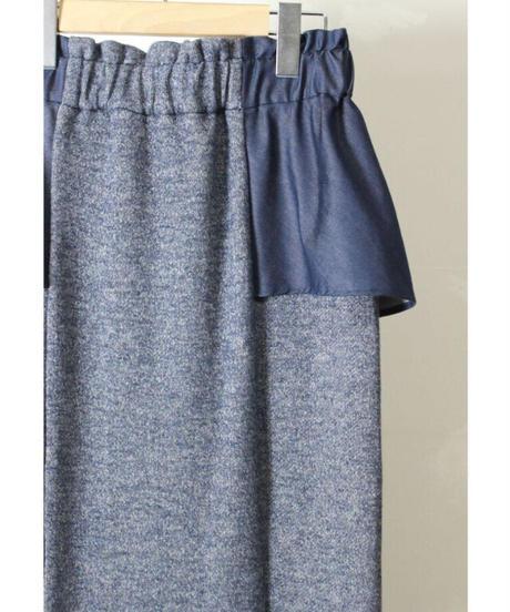 【フラフィー裏毛】 ペプラム付きタイトスカート