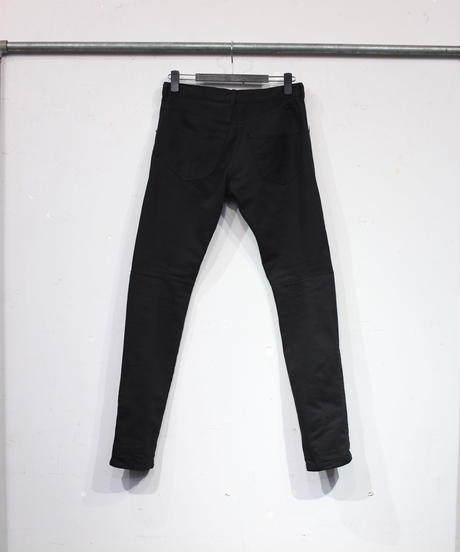 Distortion denim pants