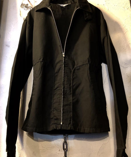 60,s vintage U.S.A. CAMPUS  Rock'n Roll DRIZZLER JACKET BLACKデッドストック極上美品.