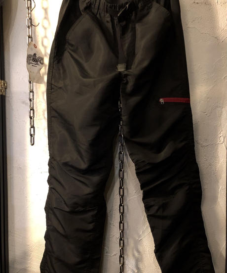 オールドモデルCHINA製 THIGH ZIPPER NYLON Jersey Pants美品