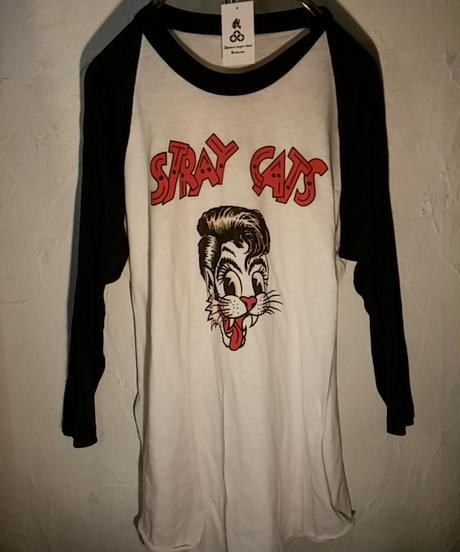 カリスマPsychobilly Band STRAY CATS 90,s ラグランTee