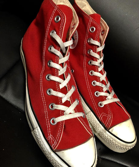 90,s vintage U.S.A. ALL STAR CANVAS RED HI 90年代BOX付ヴィンテージ美品