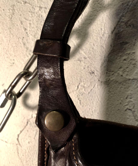 ISAMU KATAYAMA BACKLASH Leather Hip-Bag 美品
