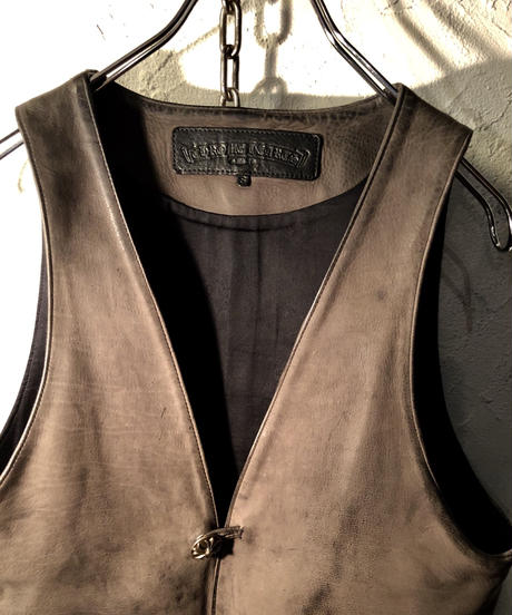 Chrome Hearts LIMITED MODEL  Leather Vest 直営ギャラ極上美品