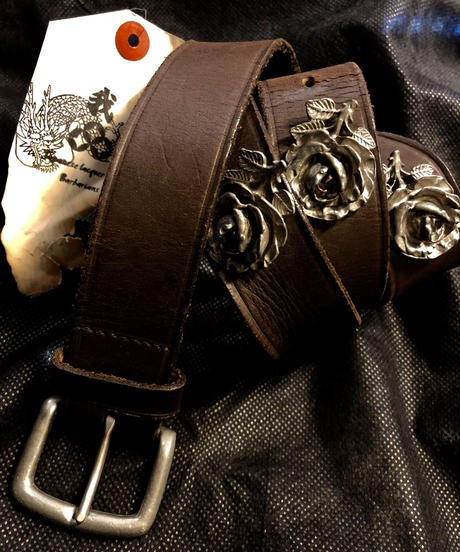 オールドモデル91,s Paul Smith ROSE STUDS LEATHER BELT
