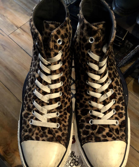 CONVERSE 15,s Limited model 起毛BROWN LEOPARD ALL STAR Hi ユーズド
