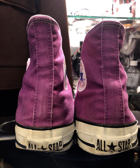 90,s初期vintage U.S.A. ALL STAR希少カラーRED GRAPE ヴィンテージ美品