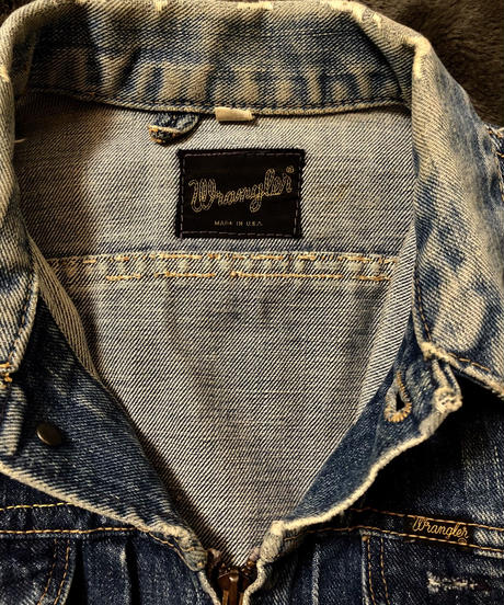 70,s U.S.A. Wrangler Denim Jacketヴィンテージ美品