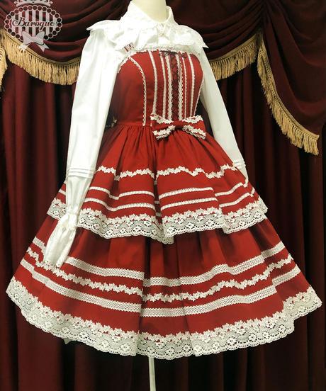 [Baroque]  Whipping Cake ホィップジャンパースカート【ご予約商品】