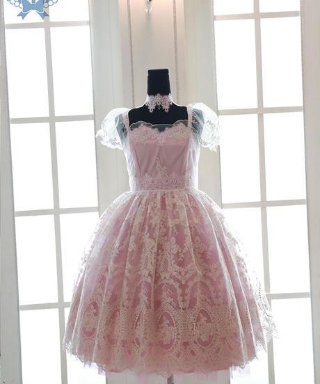 'ODETTE' レースオーバードレス S~L Size【ご予約商品】