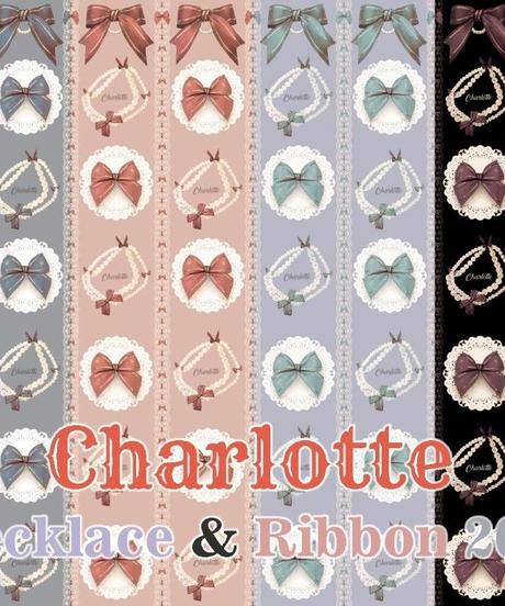 [Charlotte] Necklace & Ribbon チュールレイヤードワンピース 【ご予約商品, ブランド開始記念リボンコムプレゼント、未成年者様向けイベント開催】
