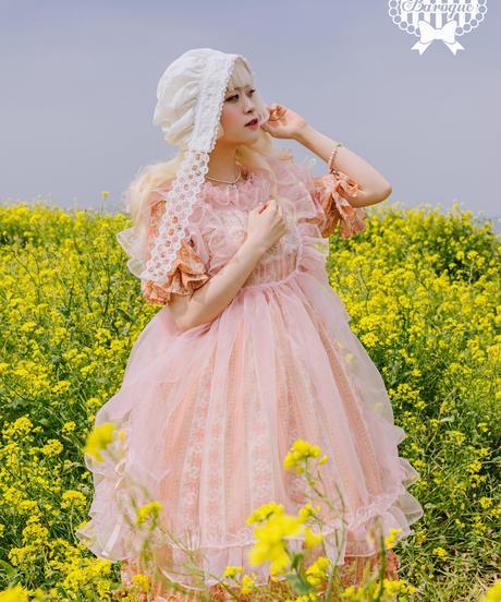 [Baroque] Hyacinth コテージローズレースボンネット【ご予約商品】