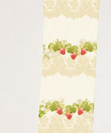 [Baroque]  Baroque x Sakizo Strawberry field's Cats ~イチゴ畑の猫たち~ プリントニーハイタイツ【ご予約商品】