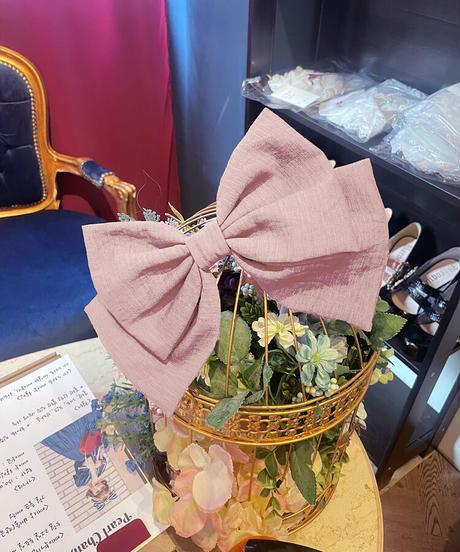 [Baroque] Muguet(ミュゲ) ビックリボンピン【ご予約商品、数量限定】