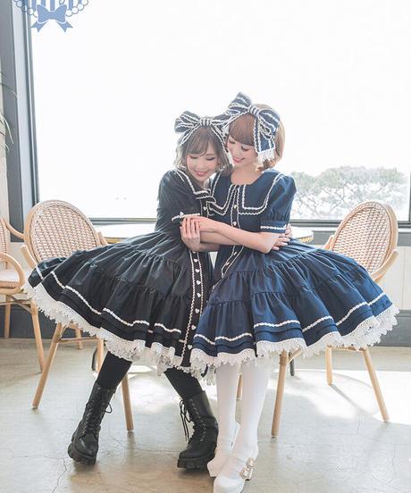 [Baroque] Chat Noirセーラーリボンカチューシャ【ご予約商品】