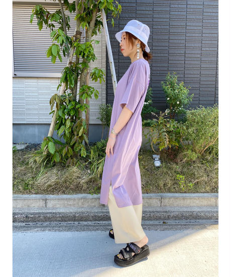 FOSI.★ back print T-shirt one-piece