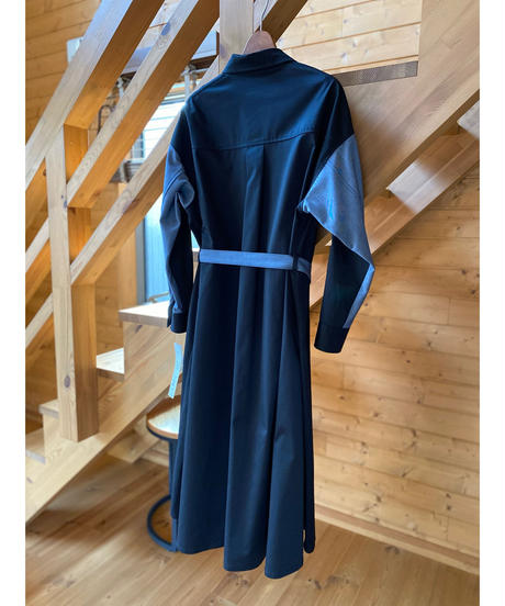 SRIC ★ color block coat one-piece