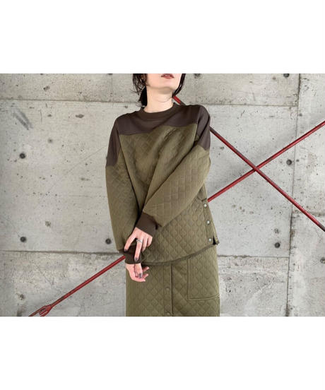 FOSI. ★ side snap quilting pullover