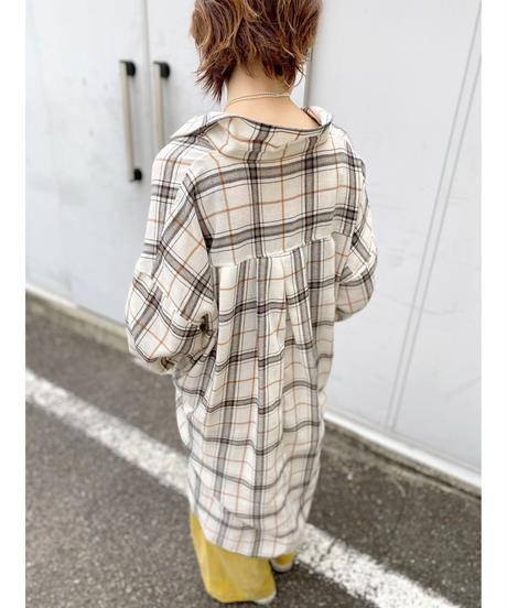 CHIGNONSTAR ★ check over shirt
