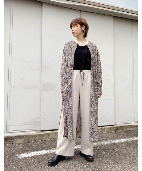 CHIGNONSTAR ★ paisley shirt one-piece / black
