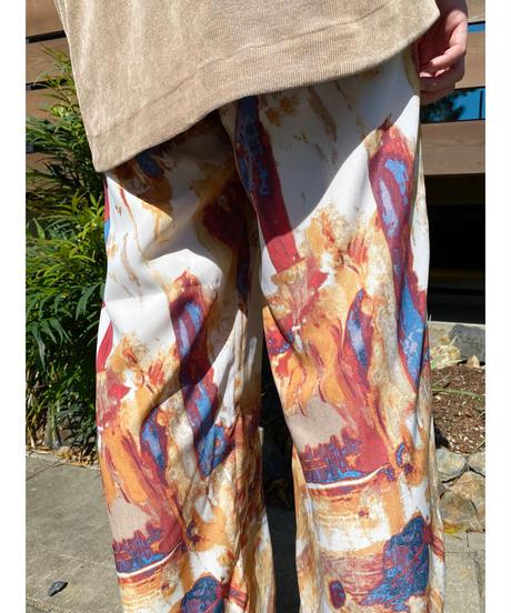 CHIGNONSTAR ★ blur print pants