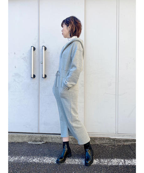 FOSI. ★ brushed back hoodie one-piece