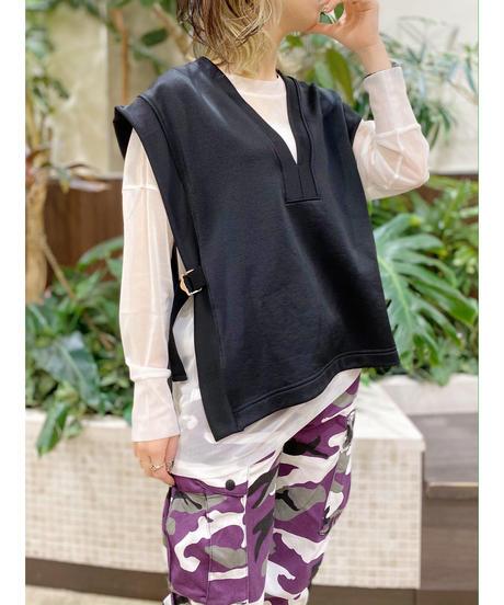 FOSI. ★ glossy jersey vest / bk