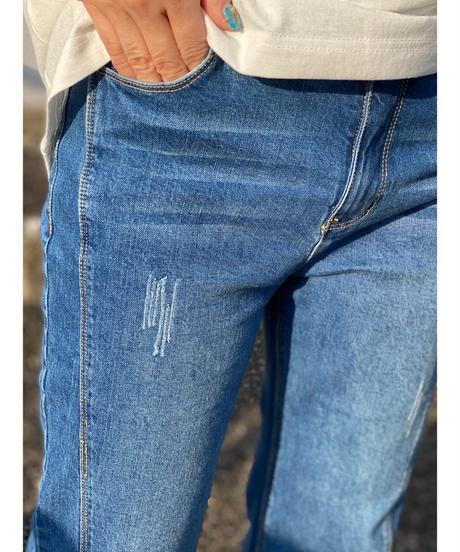 CHIGNON ★ cut flare denim pants
