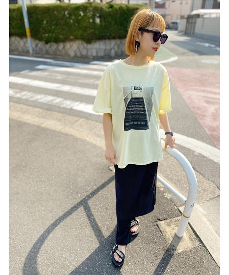CHIGNON ★ monotone photo T-shirt