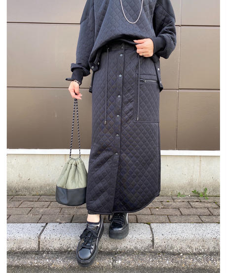 FOSI. ★ front snap quilting skirt