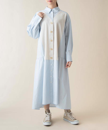 SRIC ★ docking shirt flare one-piece